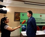 Discount program press-conference in Almaty
